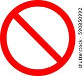 sign ban. | Shutterstock .eps vector #590850992