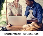 couple partnership the... | Shutterstock . vector #590858735