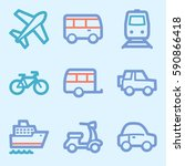 vacation and transport vector... | Shutterstock .eps vector #590866418