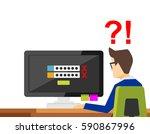 forgot username and password... | Shutterstock .eps vector #590867996