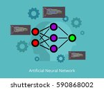 artificial neural network... | Shutterstock .eps vector #590868002