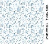 seamless pattern for cute...   Shutterstock .eps vector #590875886