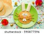 easter bunny pancakes  ... | Shutterstock . vector #590877596