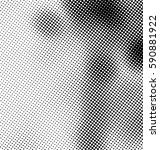 black and white halftone... | Shutterstock .eps vector #590881922