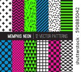 Black White And Neon Memphis...