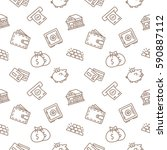 finance seamless pattern... | Shutterstock .eps vector #590887112