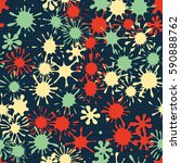seamless pattern. multi colored ... | Shutterstock .eps vector #590888762
