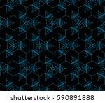modern geometric seamless... | Shutterstock . vector #590891888