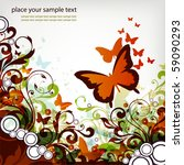 butterfly background | Shutterstock .eps vector #59090293