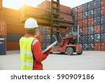 foreman control loading... | Shutterstock . vector #590909186
