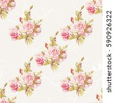 seamless floral pattern with... | Shutterstock .eps vector #590926322