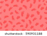seamless pink background   baby ... | Shutterstock .eps vector #590931188