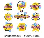 special offer sale tag discount ... | Shutterstock .eps vector #590937188