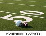 american football and helmet on ... | Shutterstock . vector #59094556