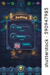 monster battle gui setting... | Shutterstock .eps vector #590947985