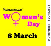 international women day... | Shutterstock .eps vector #590953535