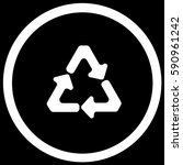 recycling sign black. vector. | Shutterstock .eps vector #590961242