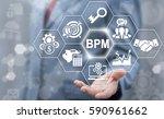 bpm  business process... | Shutterstock . vector #590961662