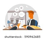 recruitment process in office | Shutterstock .eps vector #590962685