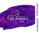elegant stylish women's day... | Shutterstock .eps vector #590967362