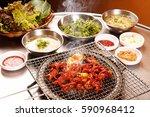 dakbal is korean style pub food ... | Shutterstock . vector #590968412