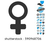 venus symbol icon with bonus... | Shutterstock .eps vector #590968706