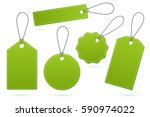 set of green price tags with... | Shutterstock .eps vector #590974022