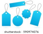 set of blue price tags with... | Shutterstock .eps vector #590974076