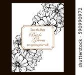 vintage delicate invitation... | Shutterstock .eps vector #590990972