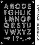 graphic font. handmade sans... | Shutterstock .eps vector #590996276