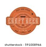 craft beer label template in... | Shutterstock .eps vector #591008966