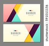 set of banner templates. bright ... | Shutterstock .eps vector #591011156