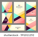 set of banner templates. bright ... | Shutterstock .eps vector #591011252