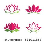 Stock vector beauty vector lotus flowers design logo template icon 591011858