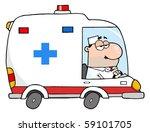 doctor driving ambulance | Shutterstock .eps vector #59101705