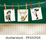 back to school   children... | Shutterstock .eps vector #59101924