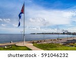 cocotaxi's fill up the malecon...   Shutterstock . vector #591046232