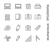 icon office  vector   Shutterstock .eps vector #591050456