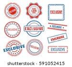 set of various exclusive stamps | Shutterstock .eps vector #591052415