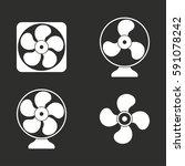 fan vector icons set. white... | Shutterstock .eps vector #591078242