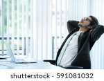 business men relaxing from work ... | Shutterstock . vector #591081032