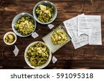 beer recipe and whole dried...   Shutterstock . vector #591095318