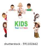 Childrens Group Safari Clothes Animal - Fine Art prints