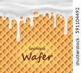 seamless wafer and dripping... | Shutterstock .eps vector #591104492