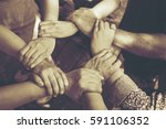 team work concept   group of... | Shutterstock . vector #591106352
