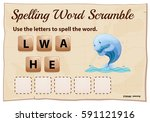 spelling word scramble game for ... | Shutterstock .eps vector #591121916