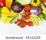 tomatoes  eggplants  vegetable... | Shutterstock . vector #59112235