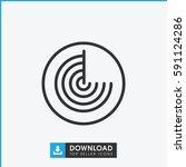 radar icon. simple outline...   Shutterstock .eps vector #591124286