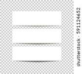 empty banner design template... | Shutterstock .eps vector #591124652