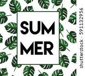 stylish summer cover of... | Shutterstock .eps vector #591132956